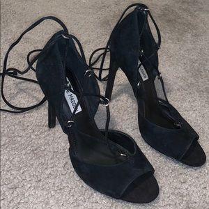Velvet lace up Steve Madden heels